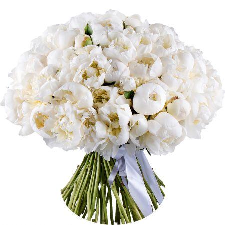 Bouquet 101 white peony