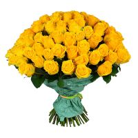 Order 101 yellow rose with delivery