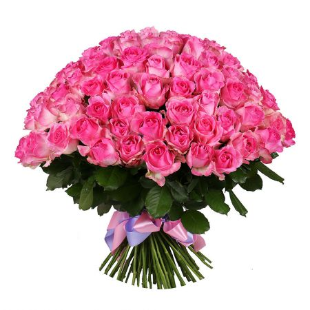 Buy exquisite composition of 101 pink rose in website