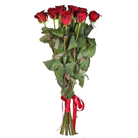 Bouquet 11 roses 90 cm