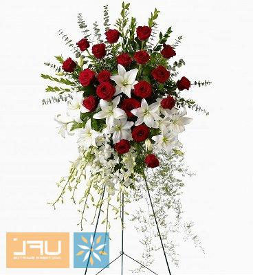 Bouquet Funeral arrangment of fresh flowers №4