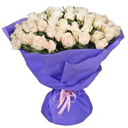 Bouquet 51 creamy roses