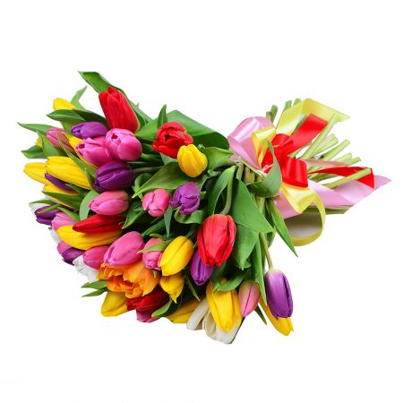 Buy 51 colorful tulip  with delivery