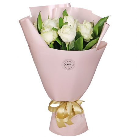 Bouquet 7 white roses