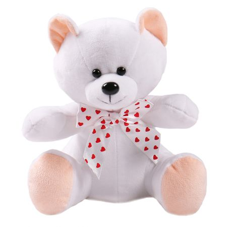 Product White teddy with hearts