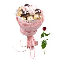 Chocolate bouquet + free rose | order now
