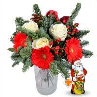 Bouquet Christmas tree bouquet+Chocolate Santa Claus
