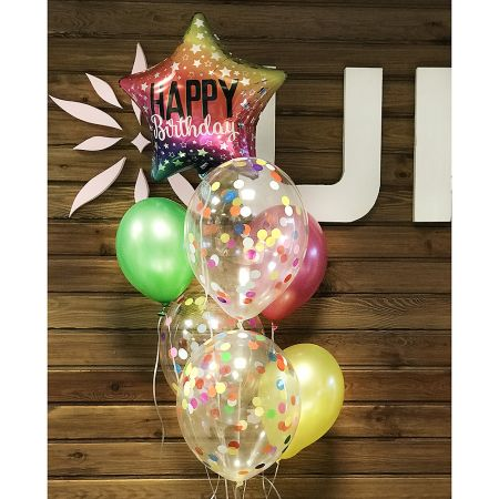 Product Balloon fountain \'Happy Birthday\'