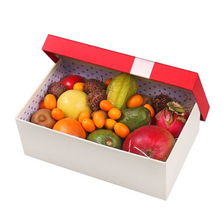 Product Box with exotic fruits