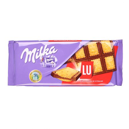 Product Milka chocolate and biscuit