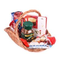 Coffee and Candy Basket, basket of sweets, unusual gist, gift delivery, delivery of candies, sweet g