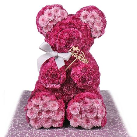 Bouquet Pink teddy with a tie-bow