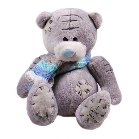 Product Grey teddy in scarf
