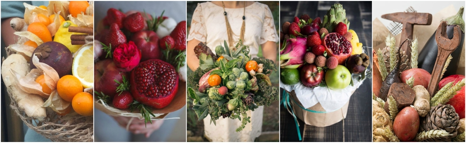 Fruit and vegetable bouquets