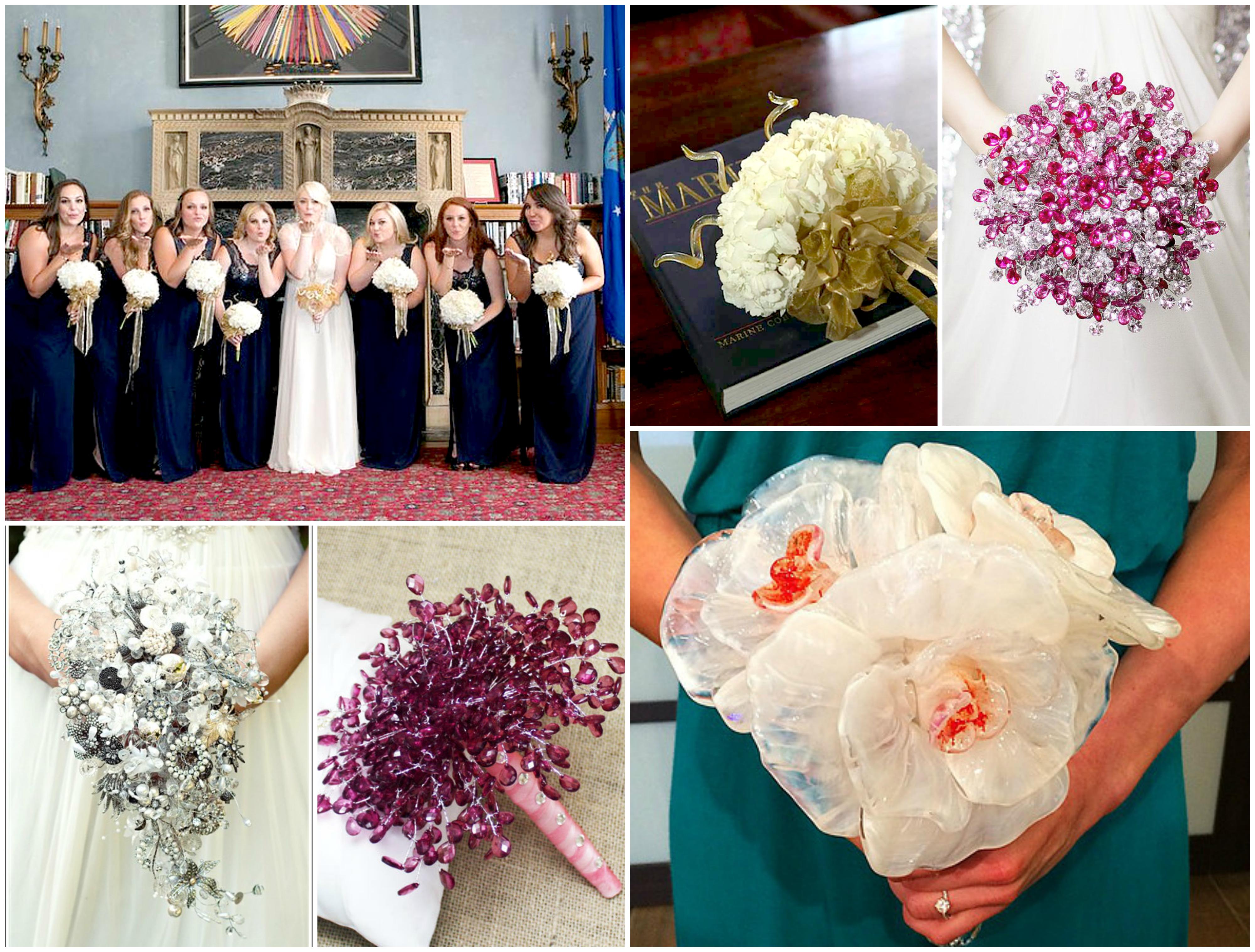 Bridal glass bouquets