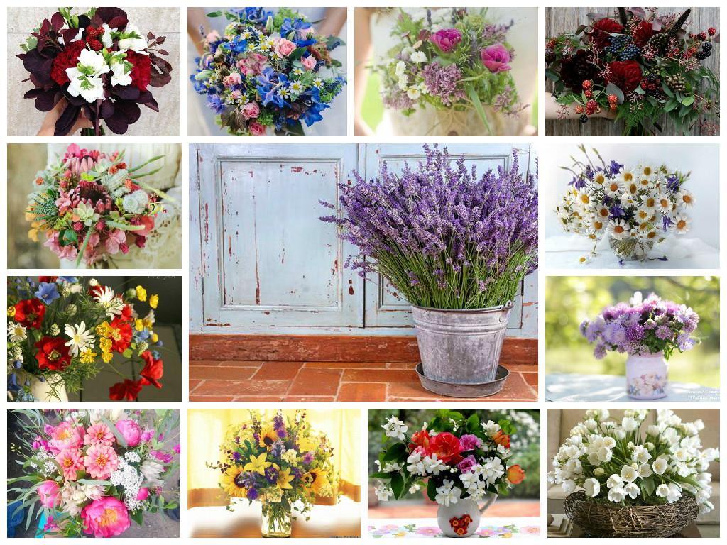 Original bouquet of wild flowers