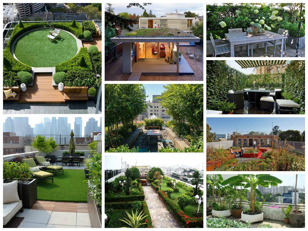 Rooftop gardens foto