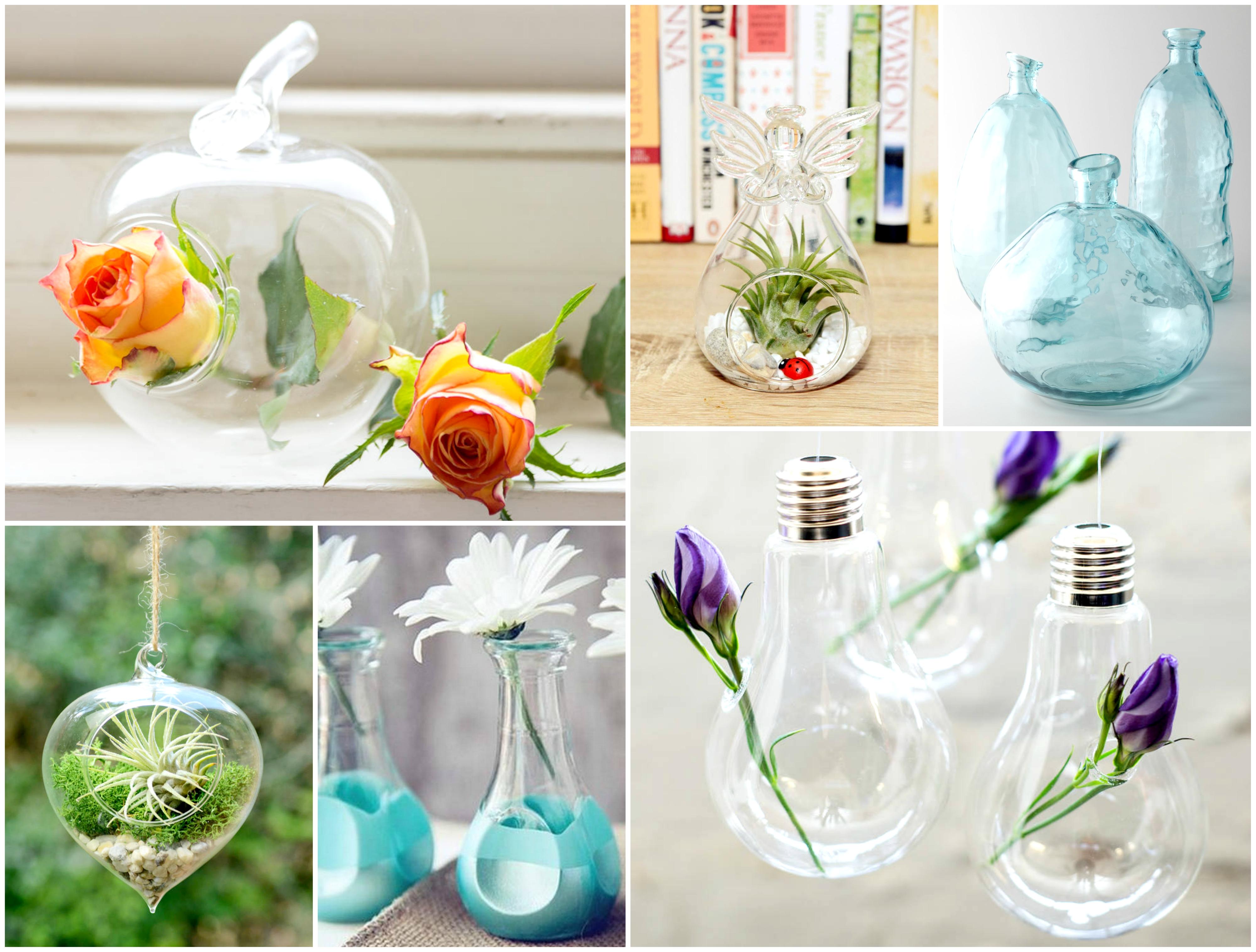 Original glass vases
